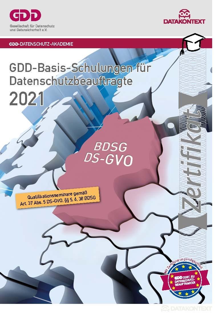 Zertifizierung zum Betrieblichen Datenschutzbeauftragten (GDDcert. EU)