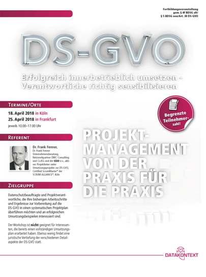 DS-GVO - Erfolgreich innerbetrieblich umsetzen - Verantwortliche richtig sensibilisieren